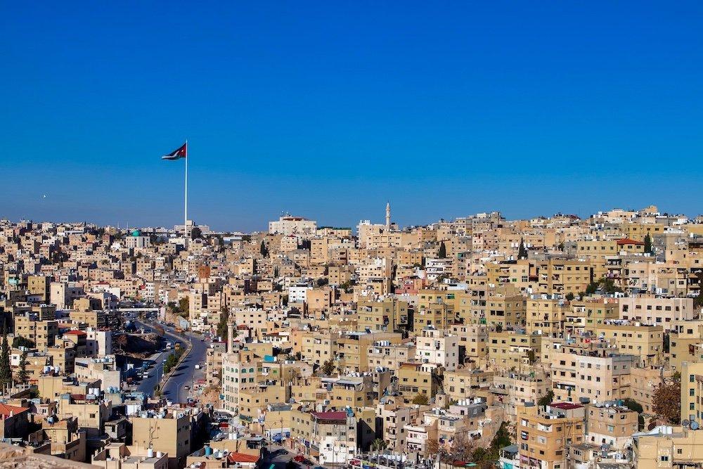 Driving in Jordan - Amman City View